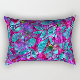 Floral Abstract Stained Glass G279 Rectangular Pillow