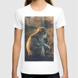 Macaque Motherly Love T-shirt