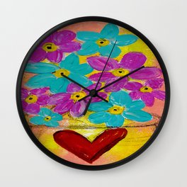 BOWL OF FLOWERS Wall Clock