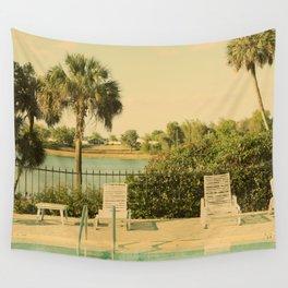 Lolita's Poolside Vacation - Beach Art Wall Tapestry
