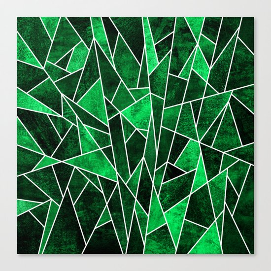 Shattered Emerald Canvas Print