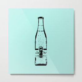 """Blue """"Chill Out"""" Sparkling Water Print Metal Print"""