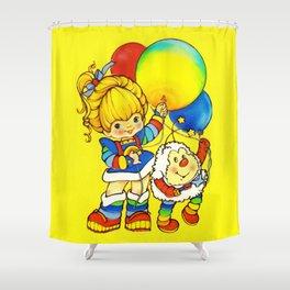 Vintage Ephemera Inspired Shower Curtain