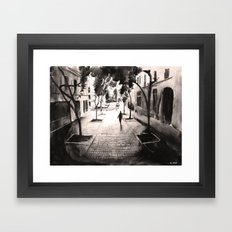 Pénombre - Painting Framed Art Print