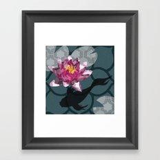 In the Koi Pond Framed Art Print