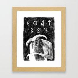 Goat Boy Framed Art Print