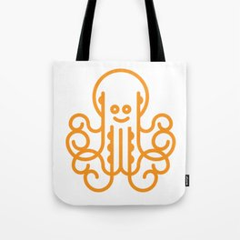 Happy Octopus in Orange Tote Bag