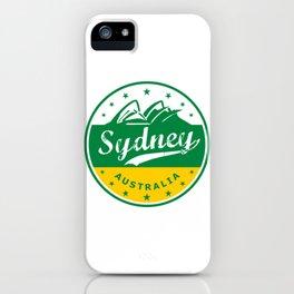 Sydney City, Australia, circle, green yellow iPhone Case