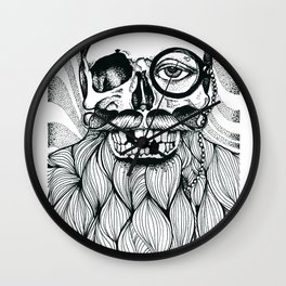 Mr. Skull Beard Wall Clock