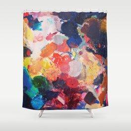Paint Palette Shower Curtain