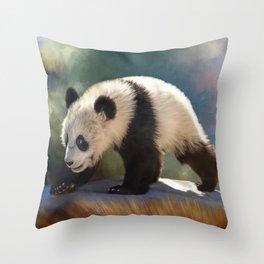Cute panda bear baby Throw Pillow