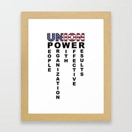Union Power Pro Labor Union Worker Protest Light Framed Art Print