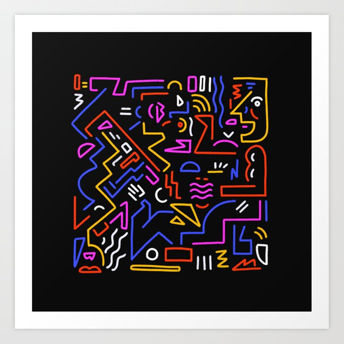Rock the box Art Print
