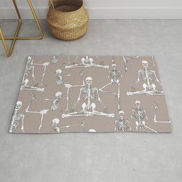 Skeleton Yoga Rug