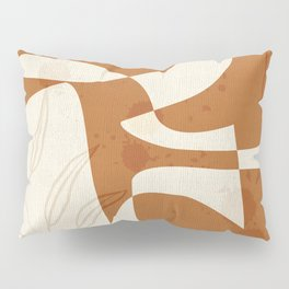 Abstract - Vase Shapes in Terracotta Pillow Sham