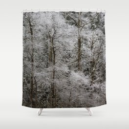 Snow Dusted Trees, No. 2 Shower Curtain