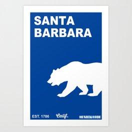 Santa Barbara.  Art Print