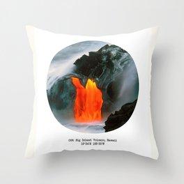 006: Big Island Volcano, Hawaii Throw Pillow