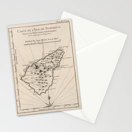Vintage Tenerife Island Map (1764) Stationery Cards