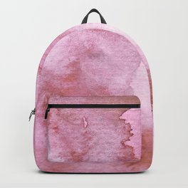 Watercolor pattern red Backpack