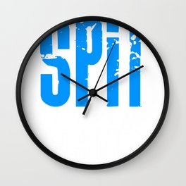 Spit Happens Suck It Up Dental Assistant Hygienist Dentist Gift Shirt For Men Women Wall Clock