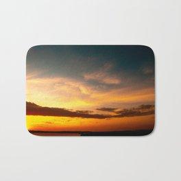 Sunset at beach Bath Mat