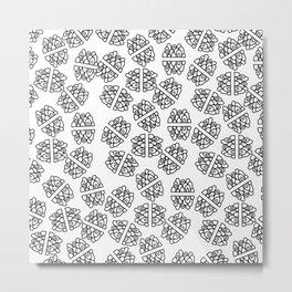Abstract hand painted modern black geometrical pattern Metal Print