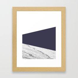 Marble Eclipse blue Geometry Framed Art Print