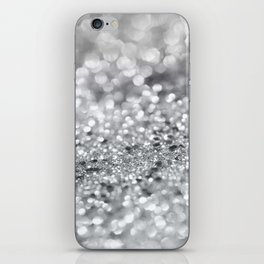 Silver Gray Lady Glitter #1 #shiny #decor #art #society6 iPhone Skin