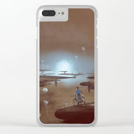 in the middle of nowhere Clear iPhone Case