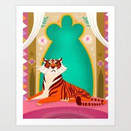 Moroccan Tiger Art Print