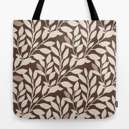 Leaves and Branches in Cream and Brown Tote Bag