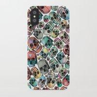 skulls iPhone & iPod Cases featuring Skulls by Devin McGrath