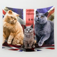british Wall Tapestries featuring British Shorthair by Selina Morgan
