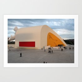 Centro Niemeyer | Aviles Spain Art Print
