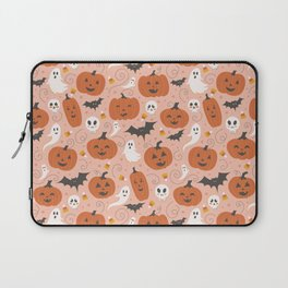 Pumpkin Party on Blush Pink Laptop Sleeve