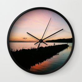 Blissful Sunset Wall Clock