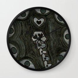 Ah-Ghastly Vintage Love Bomb Wall Clock