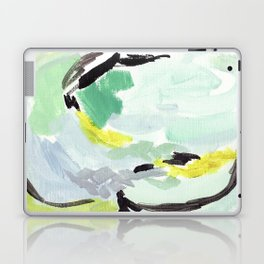 Twirl Green: Abstract Painting Laptop & iPad Skin