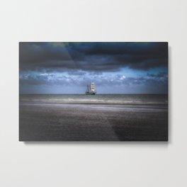 Tall Ship Sailing Metal Print
