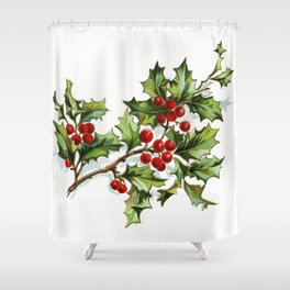 Holly Berries 20171001 by JAMFoto Shower Curtain