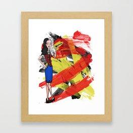 Disneyland Cruella de Vil Evil Relations Framed Art Print