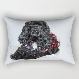 Valentine Puppy Photography Print Rectangular Pillow