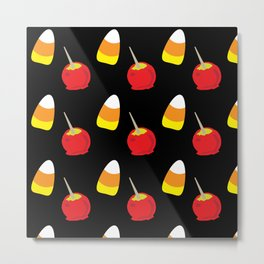 Candy Corn and Candy Apples Metal Print