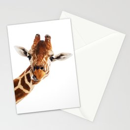 Giraffe Portrait // Wild Animal Cute Zoo Safari Madagascar Wildlife Nursery Decor Ideas Stationery Cards