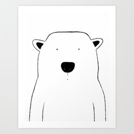 No. 0046 - Modern Kids and Nursery Art - The Polar Bear Art Print