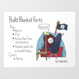 Build Blanket Forts Art Print