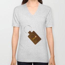 Alabama Leather Key Fob Unisex V-Neck