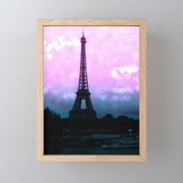 Paris Eiffel Tower : Lavender Teal Framed Mini Art Print