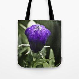 Fresh Raindrops on Purple Tote Bag
